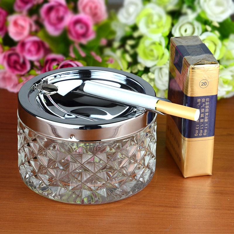 创意时尚玻璃烟灰缸客厅办公室客房个性KTV多功能玻璃烟缸送男友,可领取1元天猫优惠券