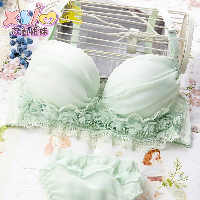 Основные сестры падают тонкие сексуальный маленькая грудь милые японские девушки собрались бюстгальтер кружева белья набор