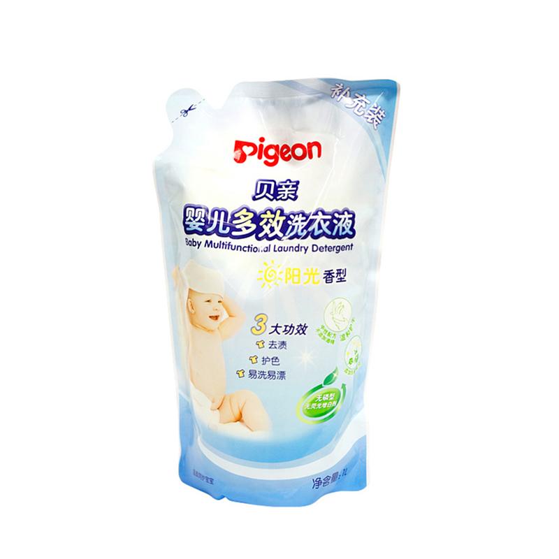 ~天貓超市~貝親寶寶洗衣液 嬰兒多效洗衣液^(陽光香型^)1L 包MA57
