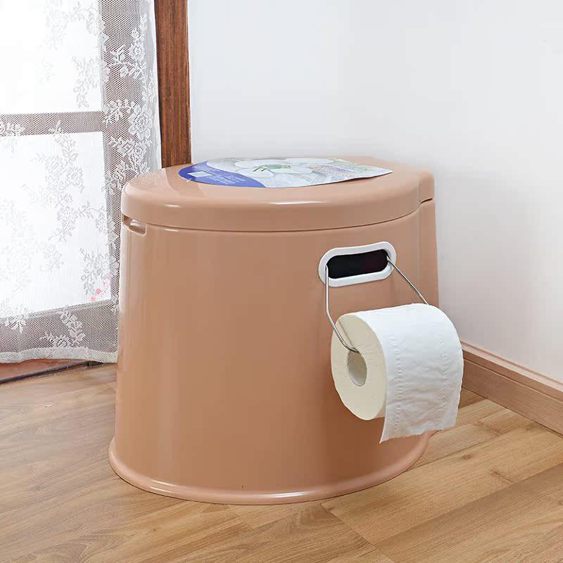 Экстравагантный причина повышение плюс толстый мобильный туалет портативный скольжение пластик старики беременная женщина двойной мобильный туалет