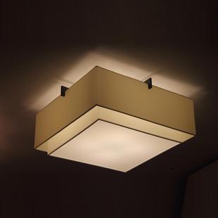 客厅餐厅卧室书房酒店别墅灯饰具led新中式吸顶灯简约现代四方形