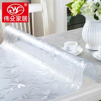 Мягкий стекло PVC скатерть геометрическом горячей масло одноразовый прозрачный чай несколько подушка обеденный стол подушка колодки пластик кристалл доска