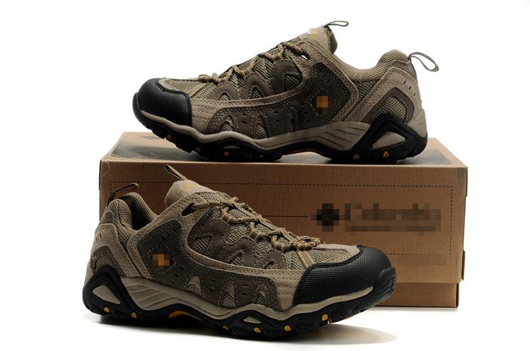 Новый Открытый весной и летом Пешие прогулки наружные ботинки ботинки пара для мужчин и женщин кожа скольжения сетка тропа кроссовки 212