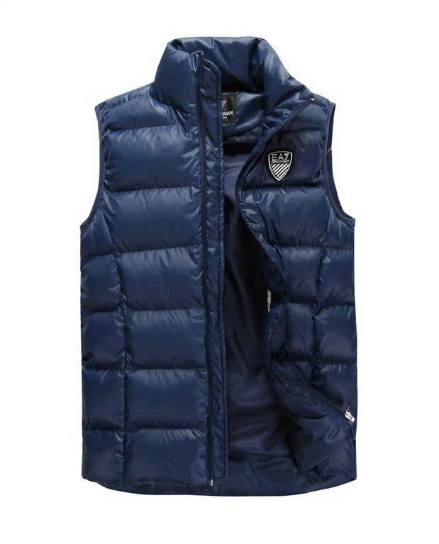 Осенью и зимой! EA7 мужской моды воротником без рукавов хлопок мужчин жилет комфортно себя тепло хлопка жилет