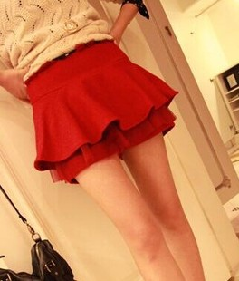 Clean prices of goods Cute college wind lotus leaf layers of cake tutu skirt bottoming hakama pants pants