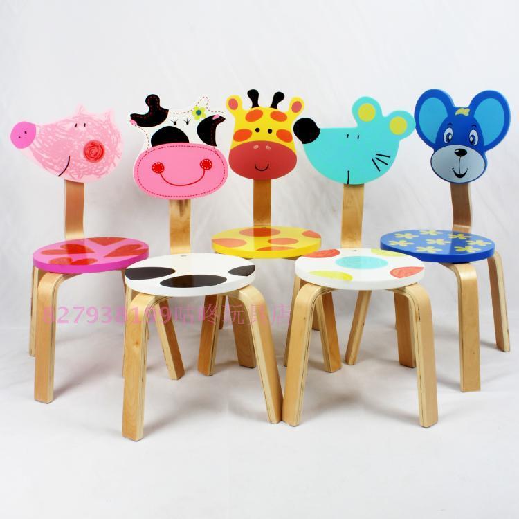 Новые экологически твердой древесины детей стул животных супер милый мультфильм стул стул стул кресло детских садов