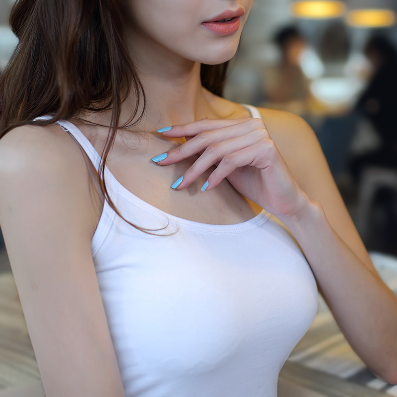 吊带背心女士白色打底衫短款小背心吊带衫棉修身性感内搭 背心女