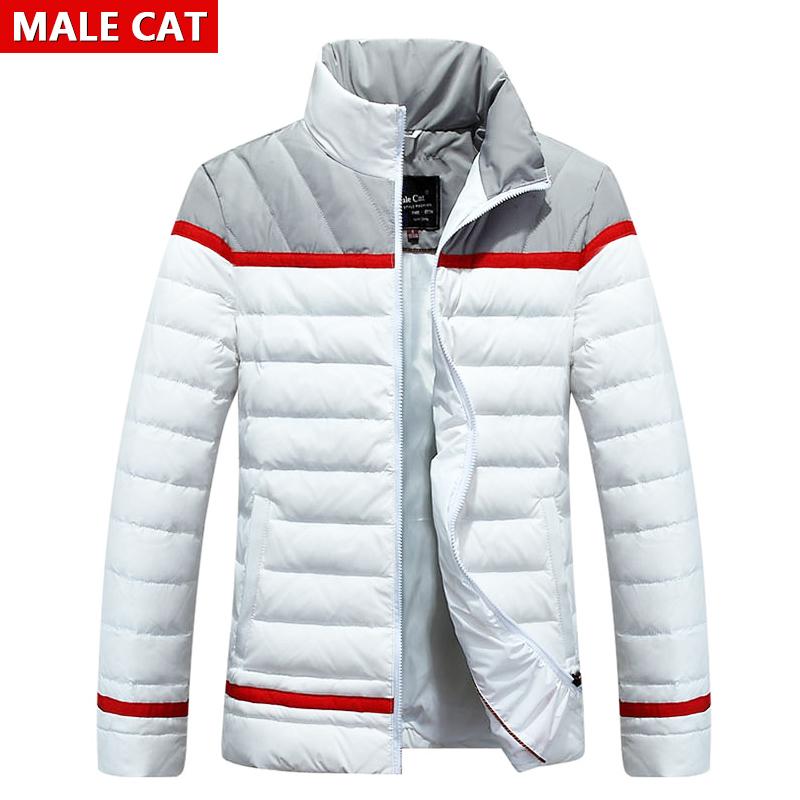 Новые зимние 2015 корейской версии случайные с ультра тонкий тонкий молодых людей вниз Куртка мужская куртка