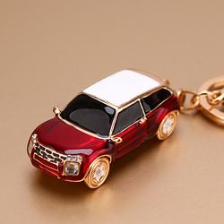 韩国创意礼品高档水晶汽车小模型汽车钥匙扣男女士腰挂钥匙挂件圈