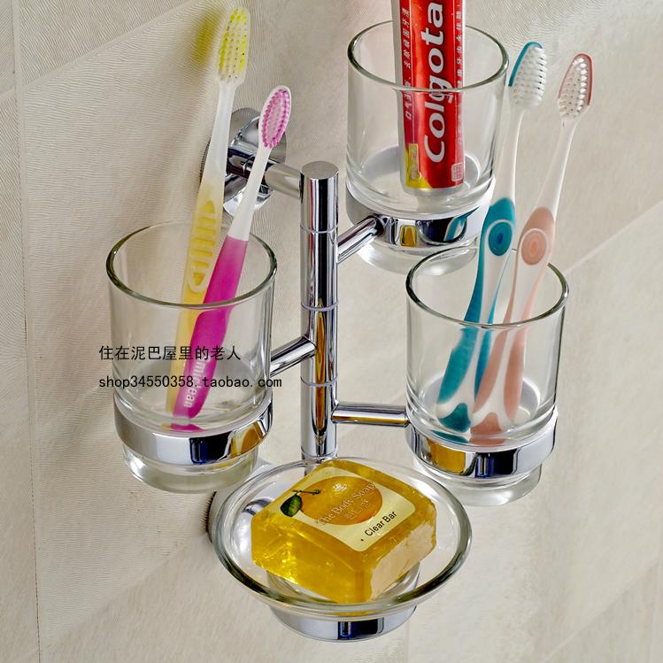 Все медь зубная щетка чашка стеллажи полоскание стакан деятельность три чашки сложить три зубная щетка держатели стаканов с импорта чашка