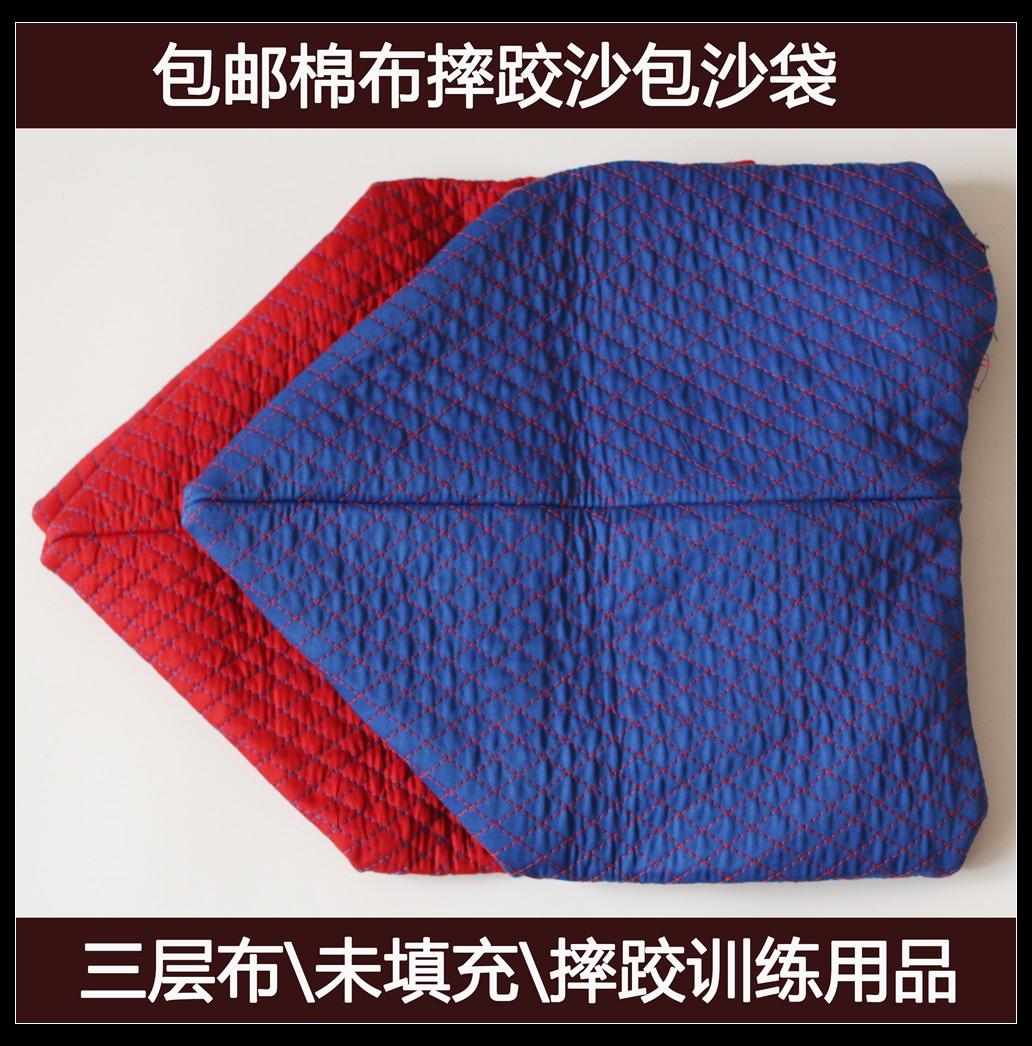 Бесплатная доставка по китаю Борющийся ремень пакет Три слоя хлопок Тренировка тканей красный голубой Может быть заполнен мелким песком