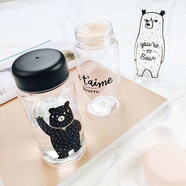 Экспорт высокого качества корейского сердца письмо несет стаканы Тритан материального творчества Кубок мило студентов