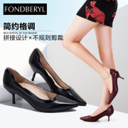 Fondberyl/feibolier-fall 2015 new Sheepskin pointed stilettos shoes women shoes FB53112521