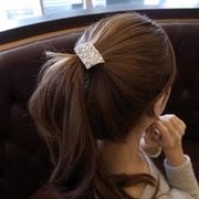 Know NI Korea headdress high fashion rhinestone flower hair band beautiful tidal rope ponytail elastic girl