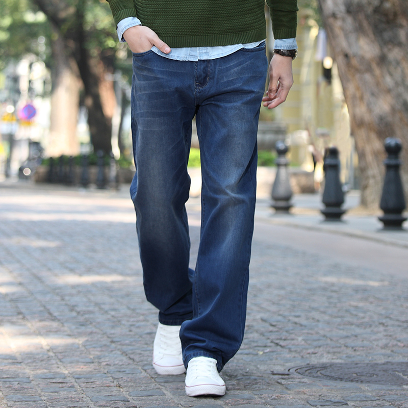 Hansca hanska осенью мешковатые джинсы мужские XL мужские прямые ноги стрейч брюки плюс удобрения потоков