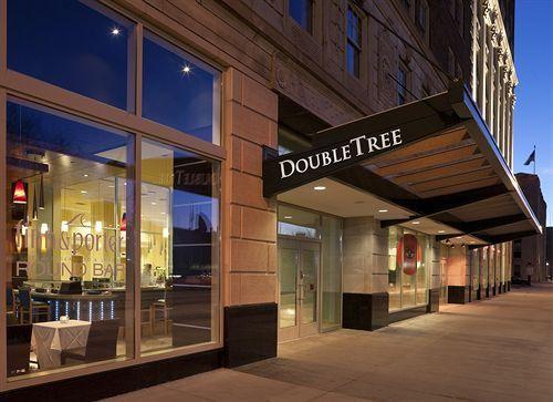 Hilton twin tree hotel in downtown Detroit