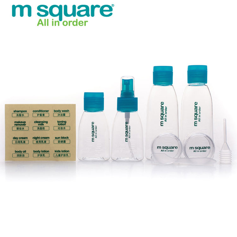M Square 護膚化妝品旅行分裝瓶套裝沐浴露洗發水噴霧瓶按壓空瓶