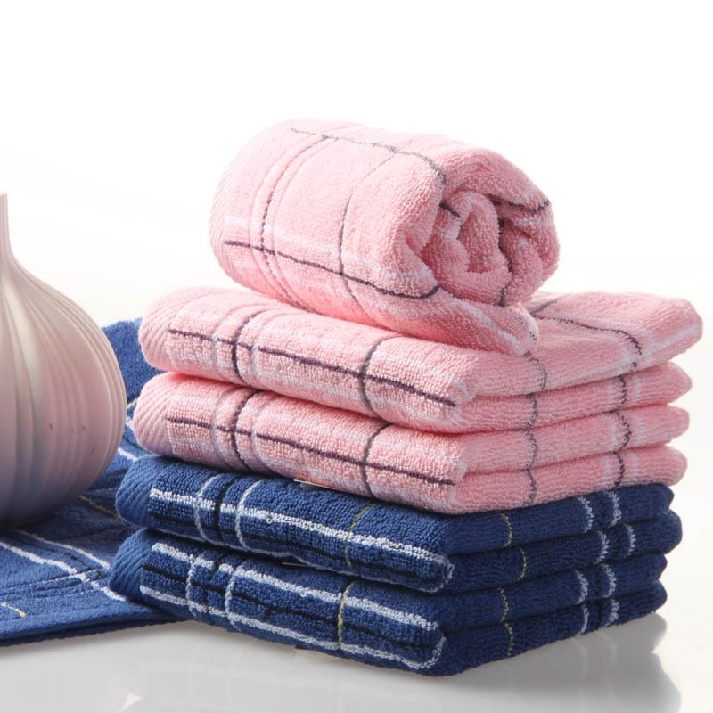 【六条装】【送方巾】金号纯棉毛巾洗脸巾简约条纹柔软包邮