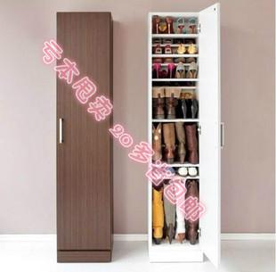 包邮迷你简易木质单门多层玄关可调节现代时尚经济型简约高鞋柜