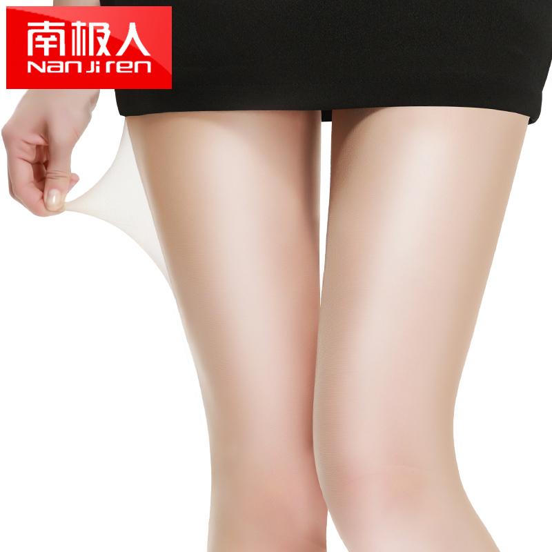 南極人肉色絲襪女連褲襪防勾絲夏季薄防脫黑色打底襪透明隱形長筒