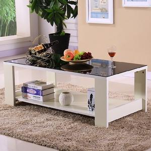 宜家钢化玻璃简约现代茶几客厅小户型咖啡桌时尚长方形白色小茶几