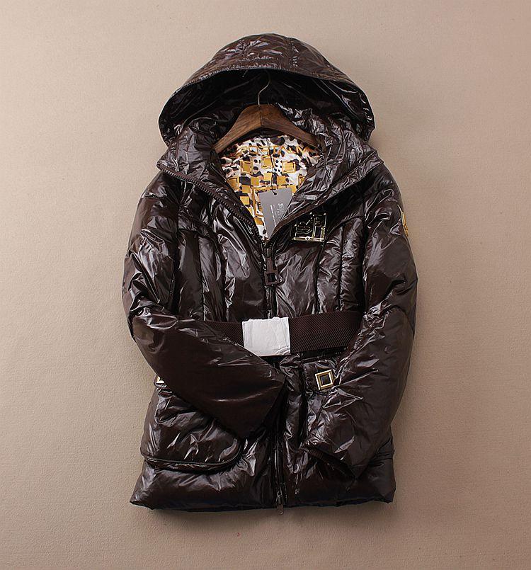 Внешней торговли длинный съемный колпачок светлая кожа зимних пальто для девочки вниз куртка поясом на талии 1.056H2-4