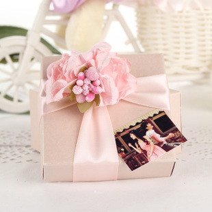 helenerolles brand pink candy box creativity European wedding supplies wedding candy box finished