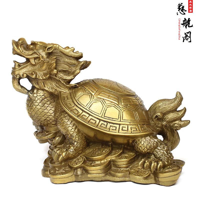 【慈航阁】开光铜龙龟摆件铜龙龟母子龟催官防小人