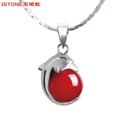 Stone female clavicle Tian Jiao Onyx necklace pendant chain simple 925 Silver