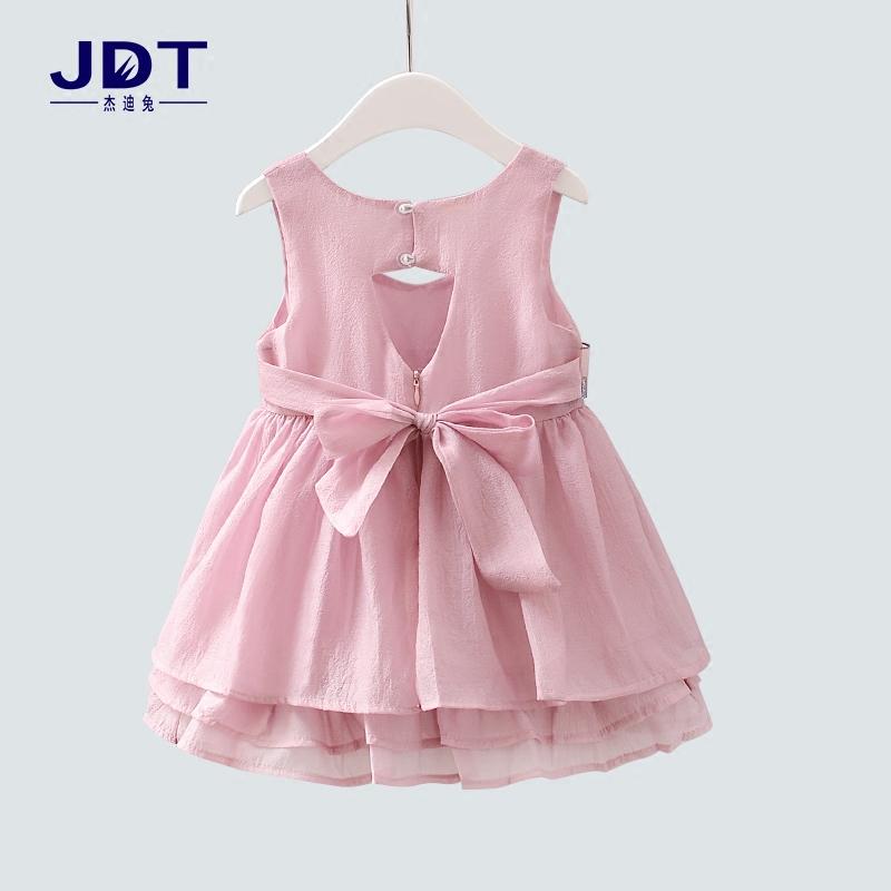 Девочки летний костюм платье 2017 новый корейский ребенок платье принцессы 3-5 лет ребенок малый юбка девушка юбка лето