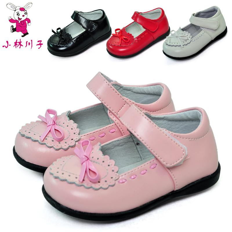 微瑕斷碼 小林川子女童皮鞋春正品兒童鞋女寶寶單鞋公主真皮鞋