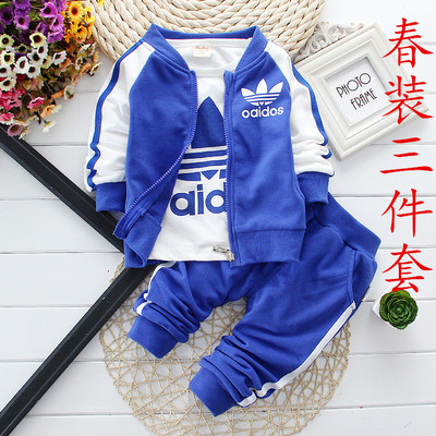 668806bbf1fdc Baby baby spring three suit children wear 0-1-2-3 - year - old baby boy who  age season out clothes