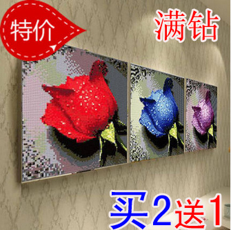Diamond painting dripping rose cross embroidery flowers living room dining room diamond square diamond embroidery new style