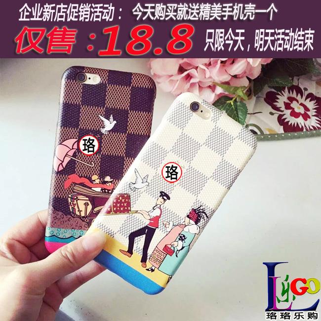 Роскошные путешествия серии BLK кожа телефон случае iPhone6/6S iPhone6plus