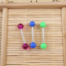 316 l surgical steel, titanium steel wholesale UV ball allergy Tongue stud Tongue Tongue Ring