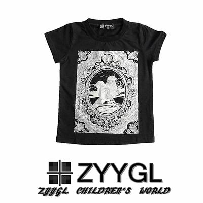 ZYYGL children's wear special children cotton T-shirt boy girl summer wear t-shirts in Europe and the wind restoring ancient ways T-shirt vest