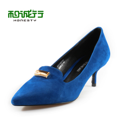 He Chenghang and pull the spring 2015 new slim pointy shoes elegant high heels ladies shoes 0770034