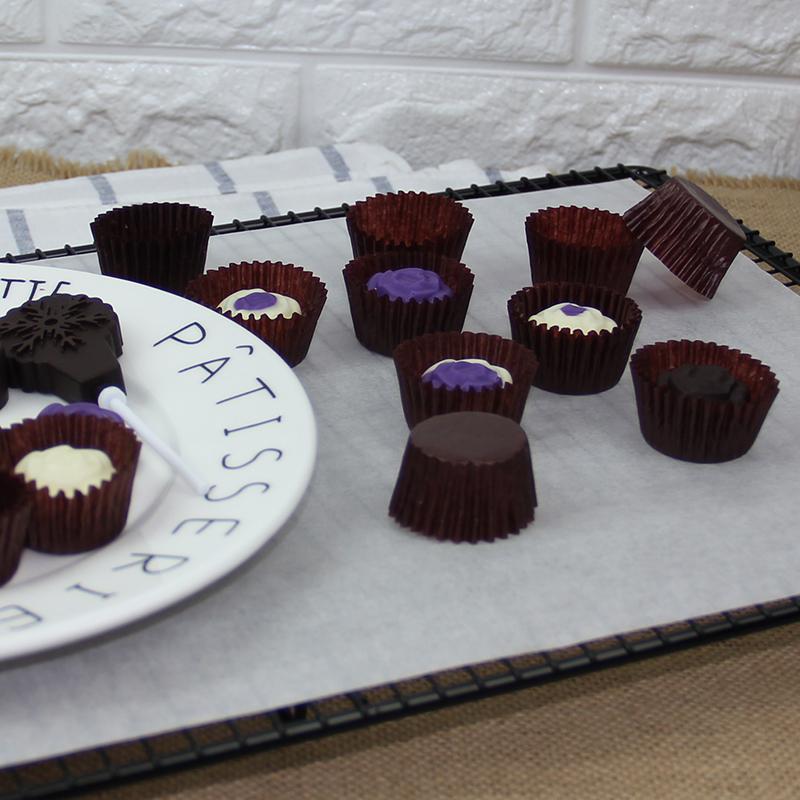 巧克力 迷你咖啡色纸托 费列罗  小蛋糕纸托/纸杯 一条约400个
