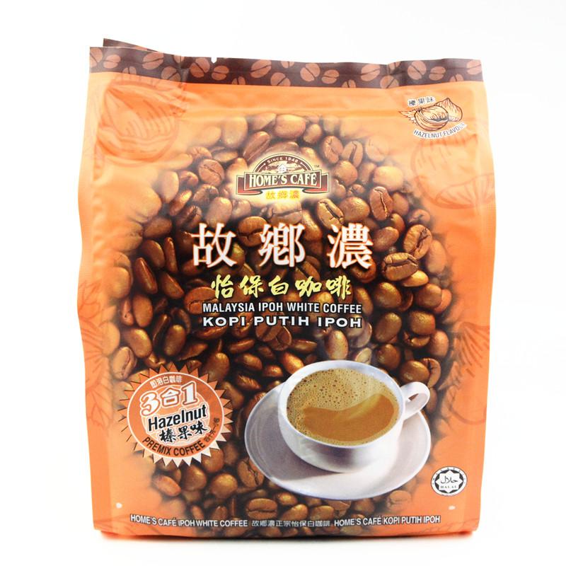 馬來西亞 故鄉濃怡保怡寶三合一速溶白咖啡^(榛果味^)600g 袋