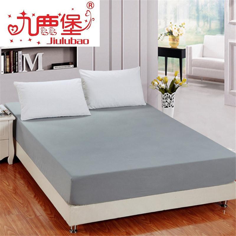 九鹿堡純白色床笠 360鬆緊席夢思床墊套保護套 防滑床罩 床單