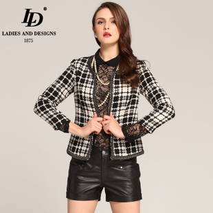 LD 2016 European leg of the new small fragrant wind tweed jacket Spring women outcoat disabilities Slim large size jacket