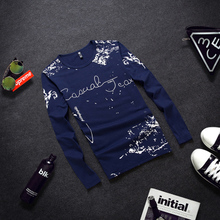 2015 summer tide male Japanese cotton T-shirt printing long sleeve shirt men's clothing han edition cultivate one's morality men long sleeve T-shirt