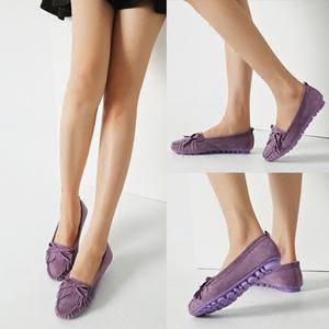 春季新款豆豆鞋女大码孕妇妈妈鞋子女鞋单鞋平底鞋休闲鞋春秋