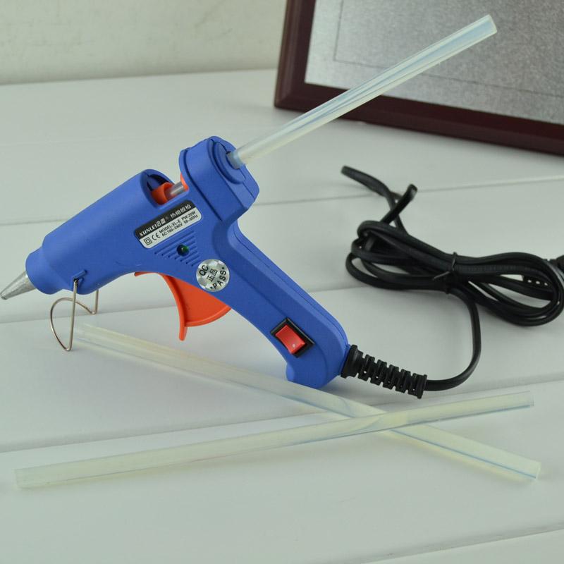 20W迅雷牌迷你型开关热溶胶枪 热溶枪 胶棒(胶枪和胶棒分别出售