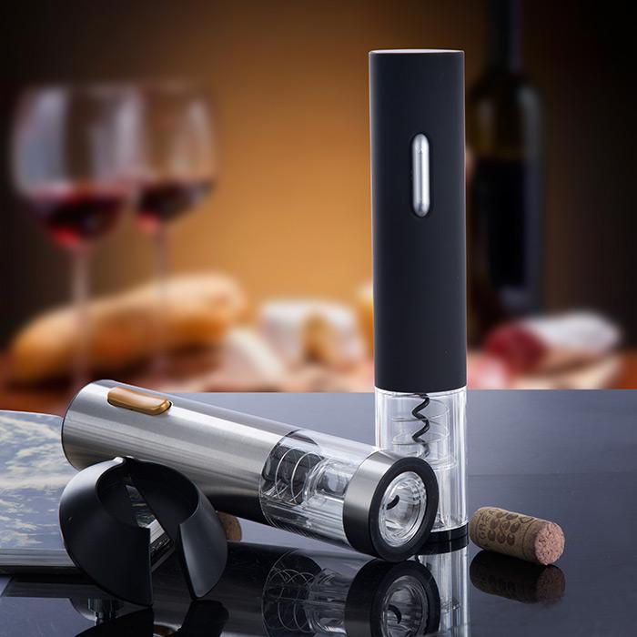 樽雅不鏽鋼電動紅酒開瓶器充電式葡萄酒開瓶器紅酒酒具自動開酒器