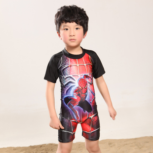 Surf Rider clothes children piece swimsuit baby swimwear sun protection clothing boys Spiderman