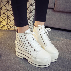 Hero sheep fall 2015 new thick shoes platform high shoes leisure shoes high sneakers women's shoes at the end of the tide