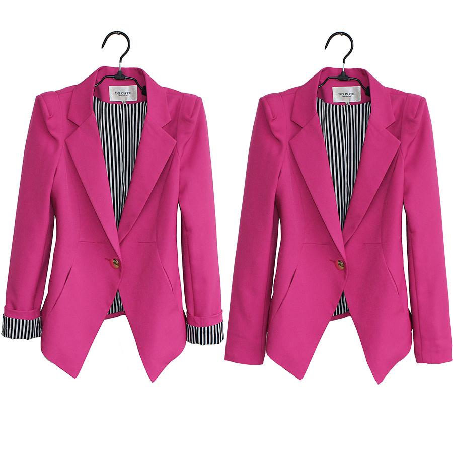 «Чрезвычайная Распродажа» 2015 осень корейской версии тонкий длинный рукав одна кнопка плечами маленький костюм женщин куртка