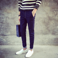 Autumn new men jeans male Japanese foot trousers male han edition cultivate one's morality leisure cowboy tidal autumn wear long pants