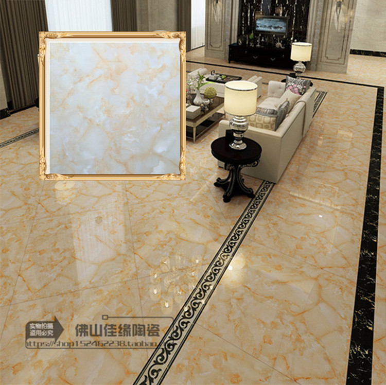 Foshan Topaz ceramic tile 800 * 800 full glazed floor tile living room floor tile anti-skid and wear-resistant indoor glazed tile